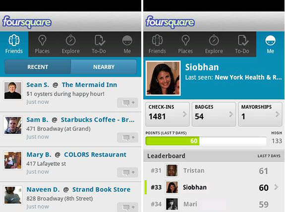 Foursquare for Android gets an update