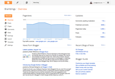 New Fresh Look Of Blogger - Latest News