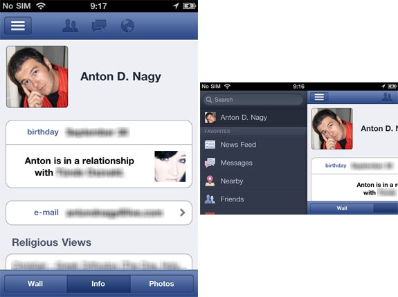 Facebook App for iPhone Updated to V 4.0