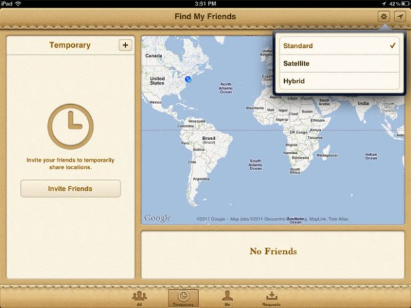 Find My Friend ipad