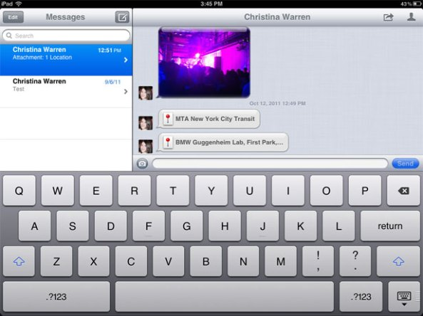 iMesages iPad