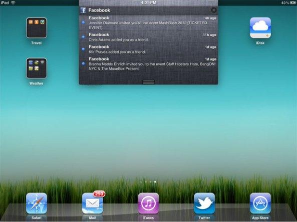 iPad Notifications