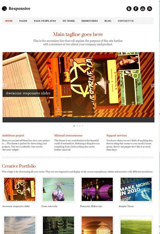 Responsive Premium WordPress Theme By Templatic