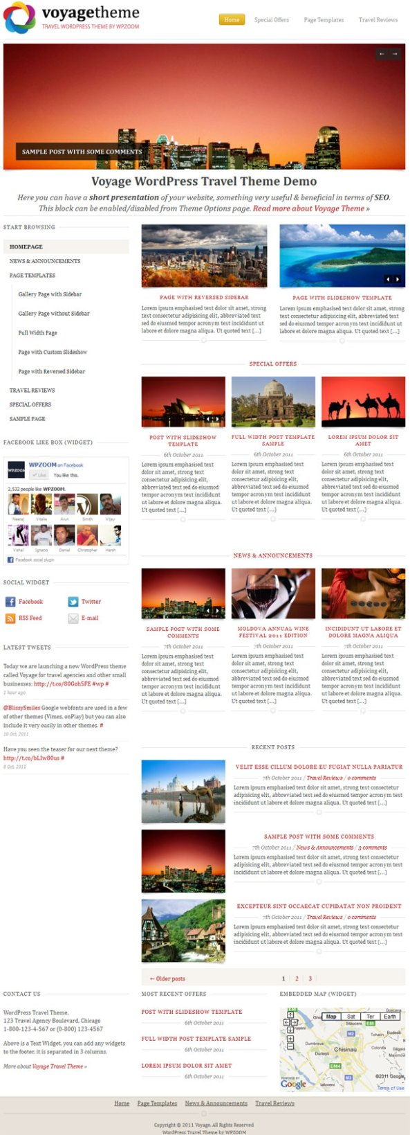 Voyage Premium WordPress Theme