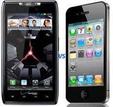 Motorola droid razr vs. apple iphone 4s