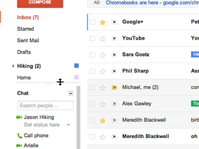 New Design of Gmail