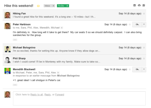 Conversation View in New Gmail