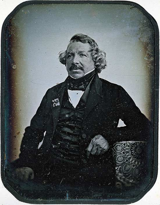 A daguerreotype of Louis Daguerre in 1844 by Jean-Baptiste Sabatier-Blot.
