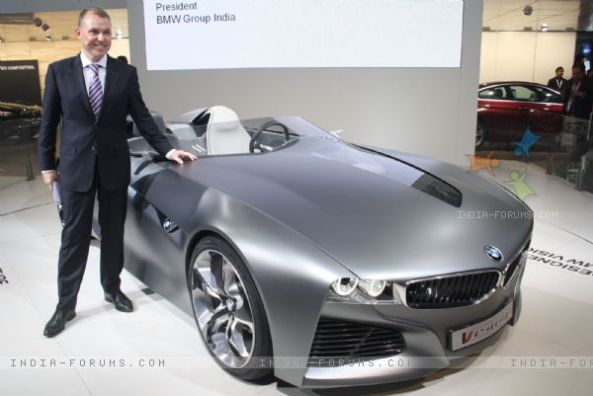 The launch of BMW Vision Connected Drive, at Auto Expo 2012 in New Delhi